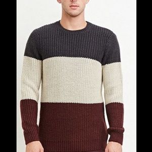 Colorblocked Wool-Blend Sweater